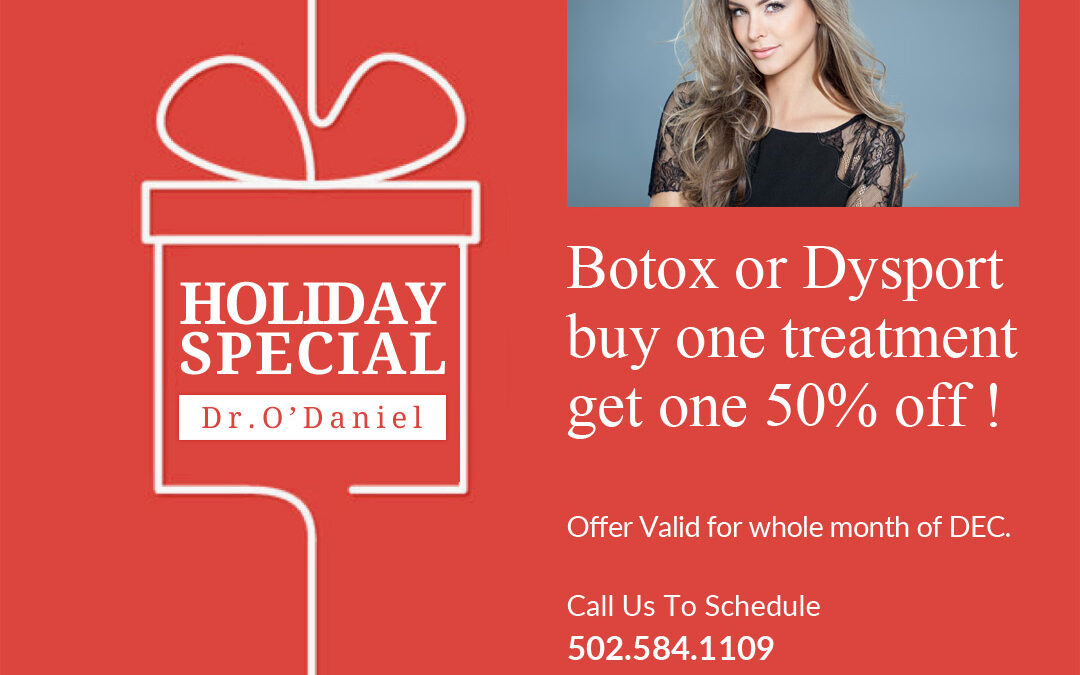 Holiday promo – Buy one Botox or Dysport treatment and get one 50% off!